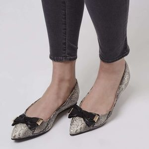 TOPSHOP Bow Point Slippers